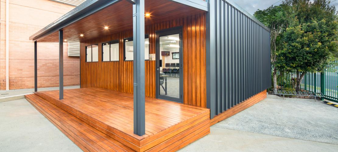 A new computer room for Coffs Harbour Christian Community Junior School, made from the salvaged timber